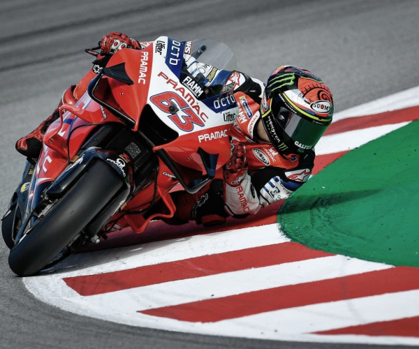 Pecco Bagnaia a Ducati en 2021