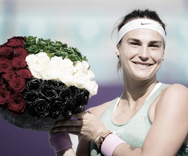 Sabalenka bate Kudermetova em Abu Dhabi e conquista terceiro título seguido