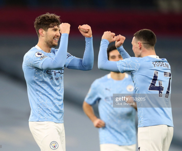 Manchester City 4-0 Crystal Palace - Stones double sends City second