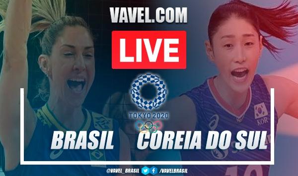 Melhores momentos Brasil x Coreia do Sul no vôlei dos Jogos Olímpicos (3-0)