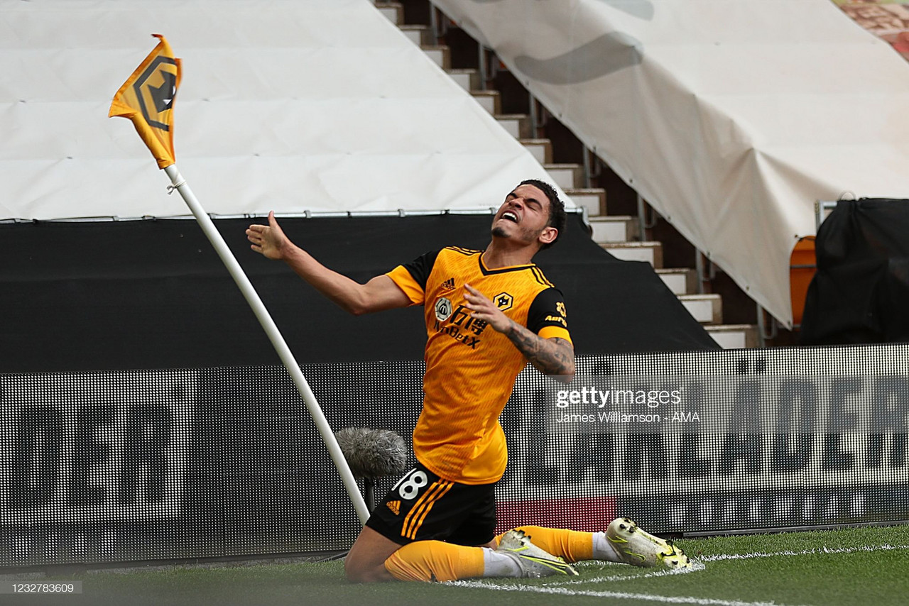 Morgan Gibbs-White shines as Wolves beat Brighton and Hove Albion.