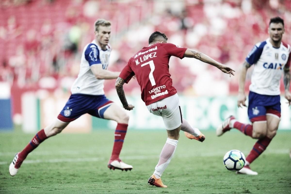 Nico López marca duas vezes e Internacional vence Bahia na estreia do Brasileirão