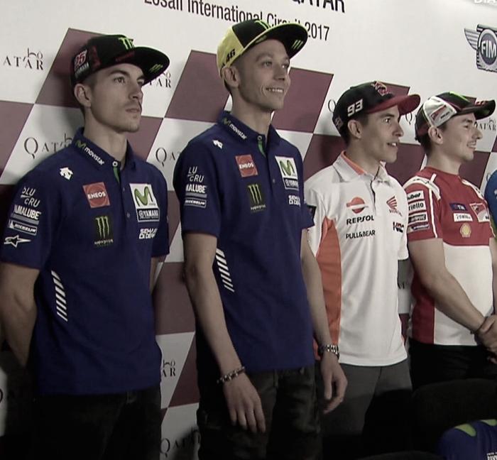 MotoGP, conferenza stampa: le impressioni di Marquez, Lorenzo, Rossi e Vinales