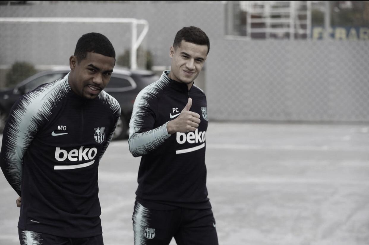 Após duas semanas, Philippe Coutinho volta a treinar pelo Barcelona
