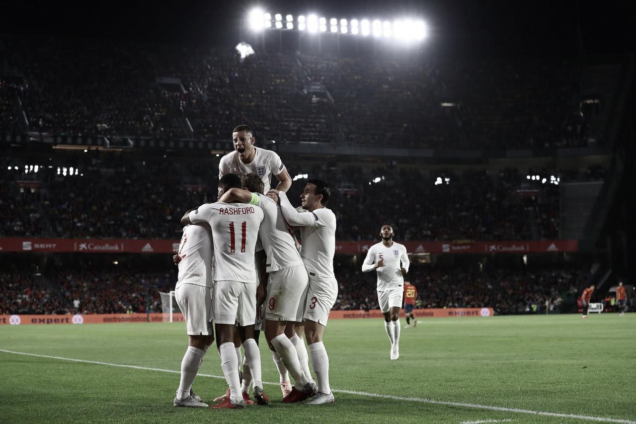 Inglaterra resolve jogo no primeiro tempo e vence a Espanha fora de casa pela Liga das Nações