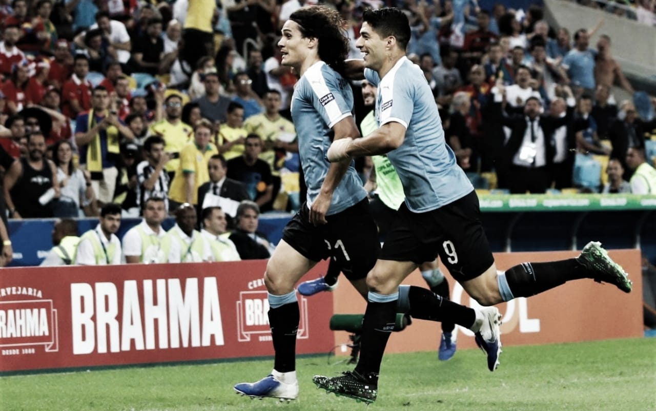 Com gol de Cavani, Uruguai derrota Chile e termina em primeiro no Grupo C