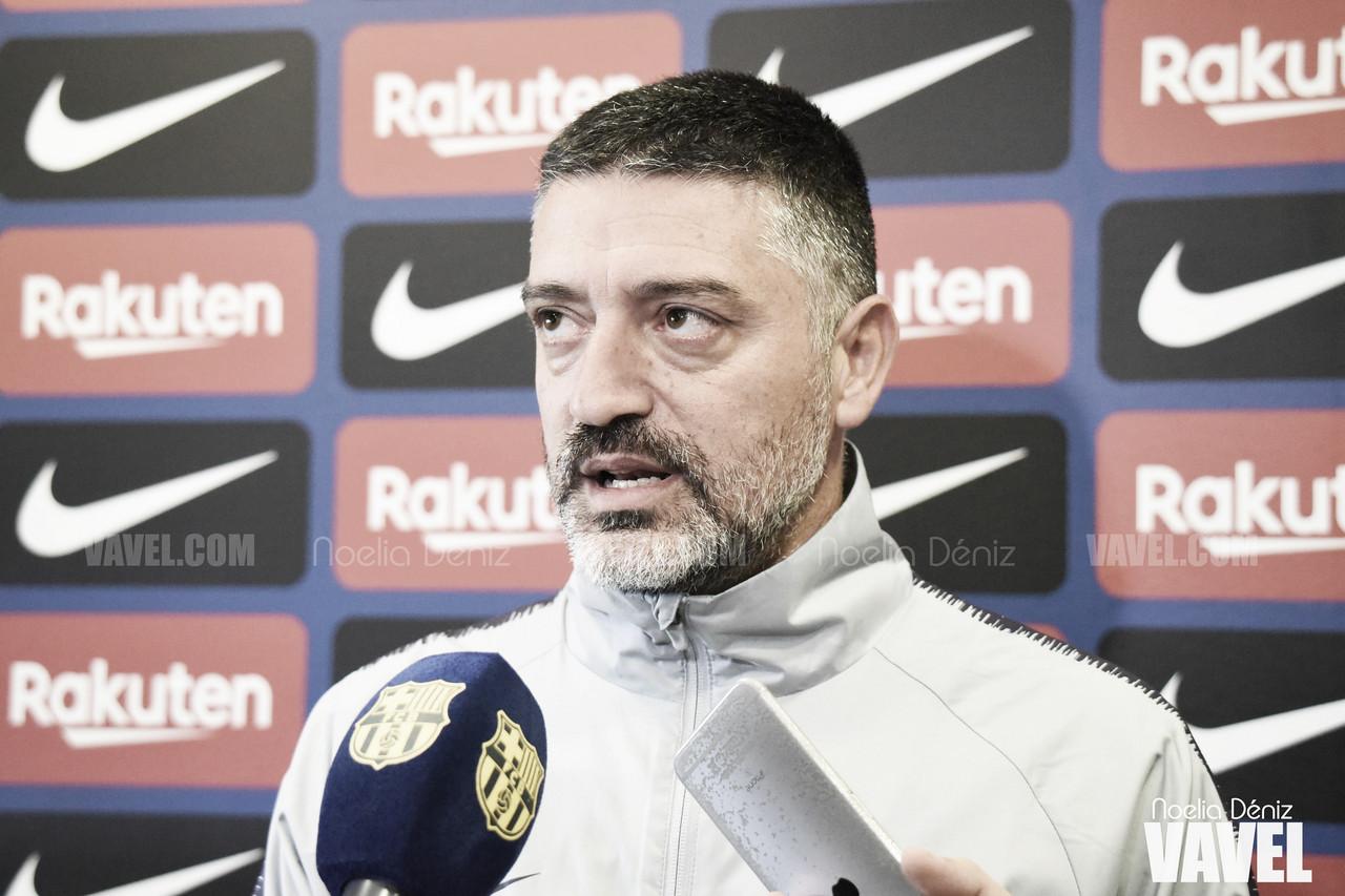 """García Pimienta: """"Cuando juegas contra el Barça todo el mundo está muy motivado"""""""