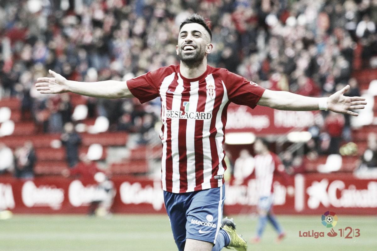 Michael Santos, el gol del Sporting