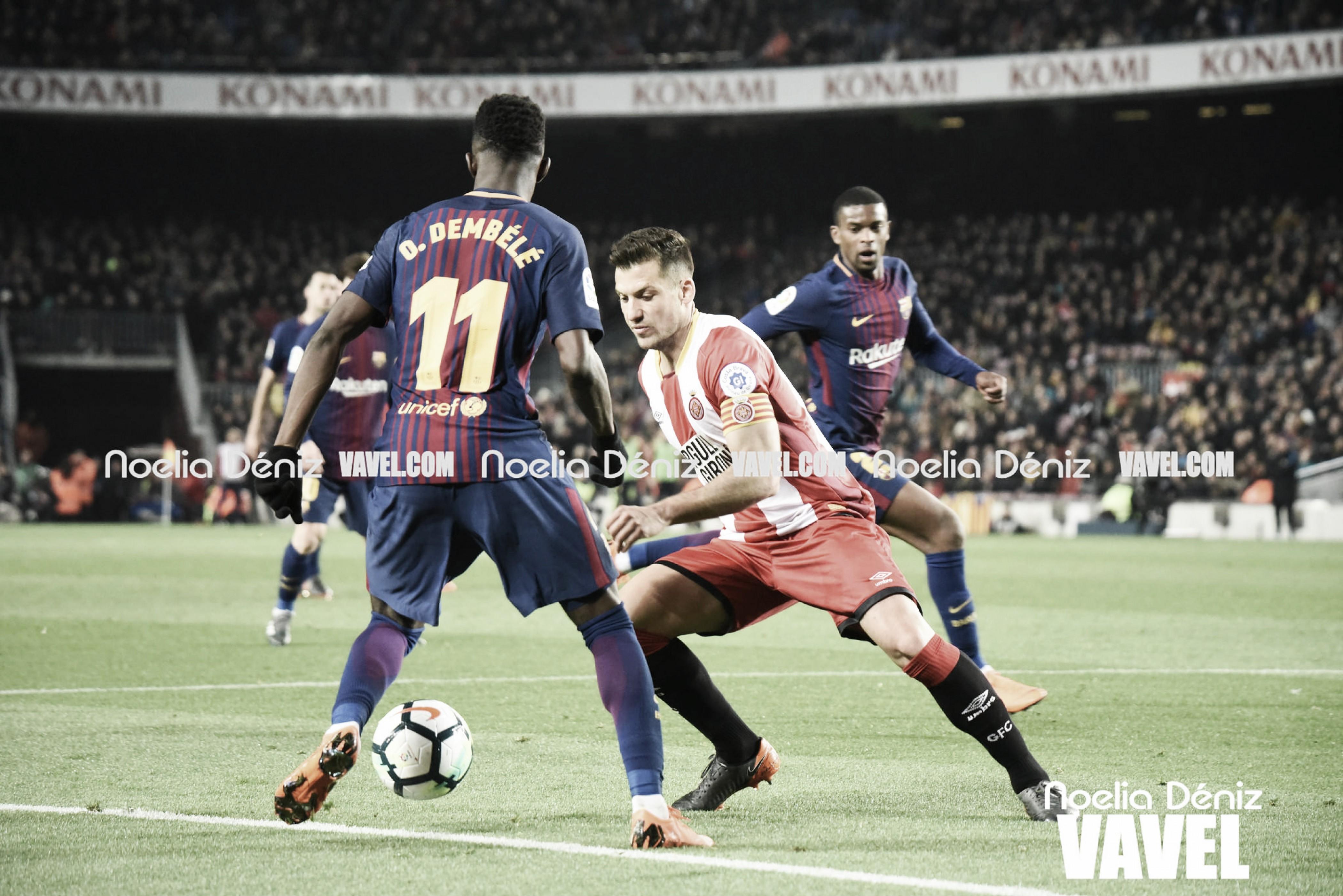 El Girona se lleva un punto del Camp Nou en un derbi con polémica