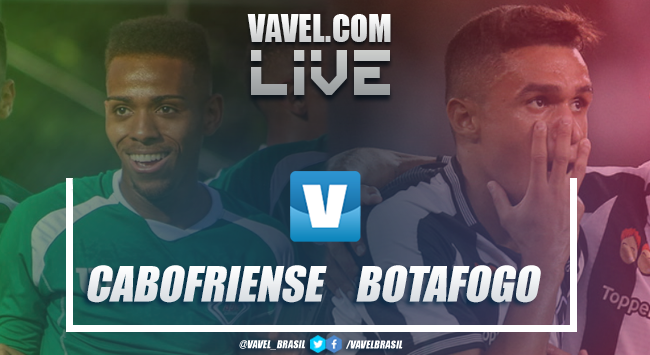 Cabofriense x Botafogo AO VIVO hoje no Campeonato Carioca (3-1)