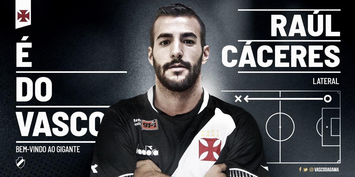 Vasco fecha com paraguaio Raúl Cáceres até o final de 2019