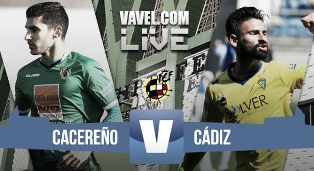 Resultado Cacereño - Cádiz en Segunda B 2015 (0-3)