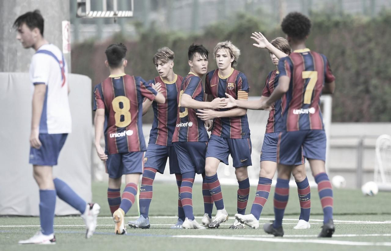 Sólido triunfo del FCB Cadete A para seguir creciendo
