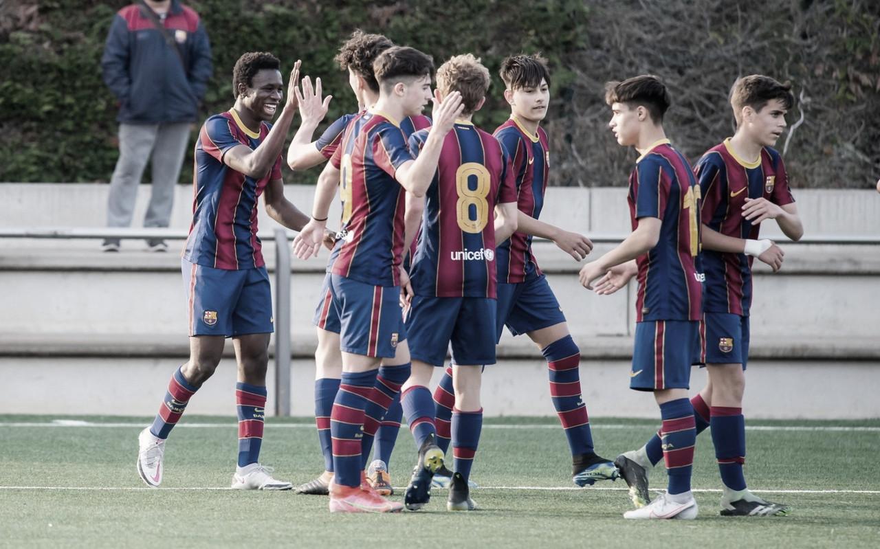 El FCB Cadete B rompe a la Rapitenca y se alza con el título de Liga