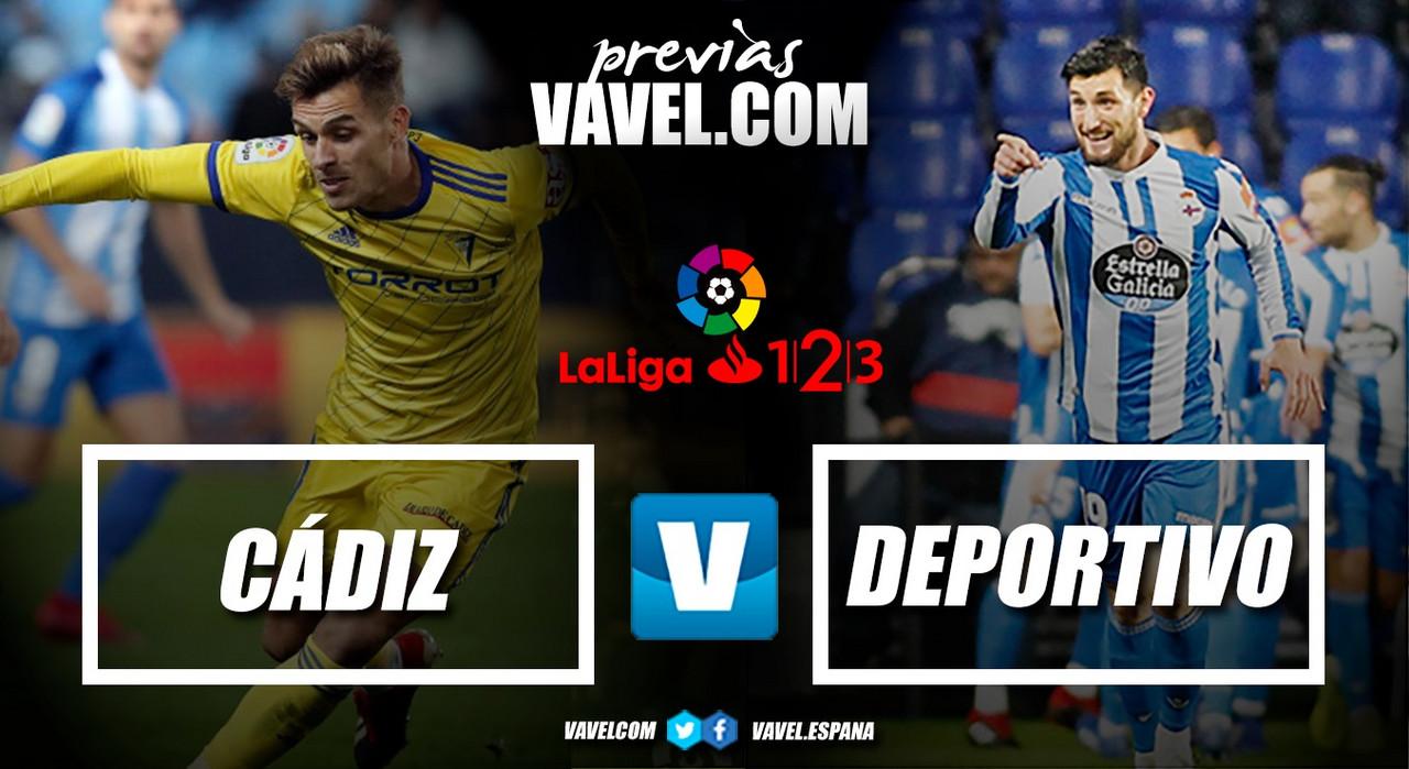 Previa Cádiz CF - Deportivo de La Coruña: a comenzar una nueva racha