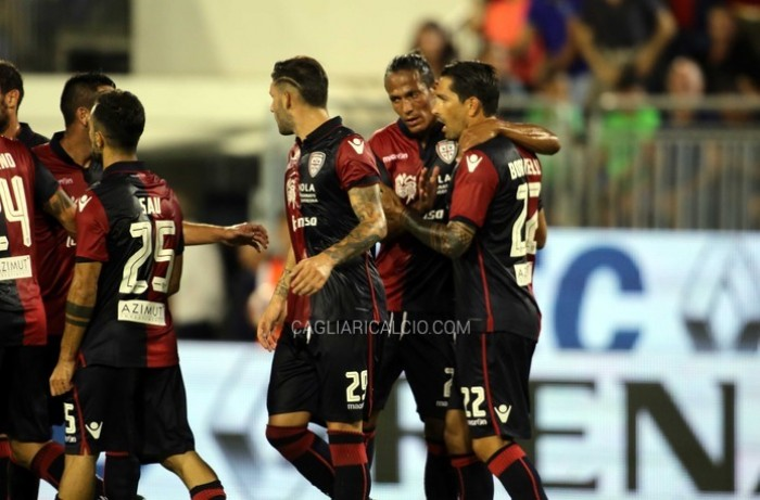 Cagliari avanti in coppa. Borriello show, Spal eliminata