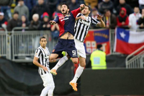La Juventus arresta la marcia del Cagliari