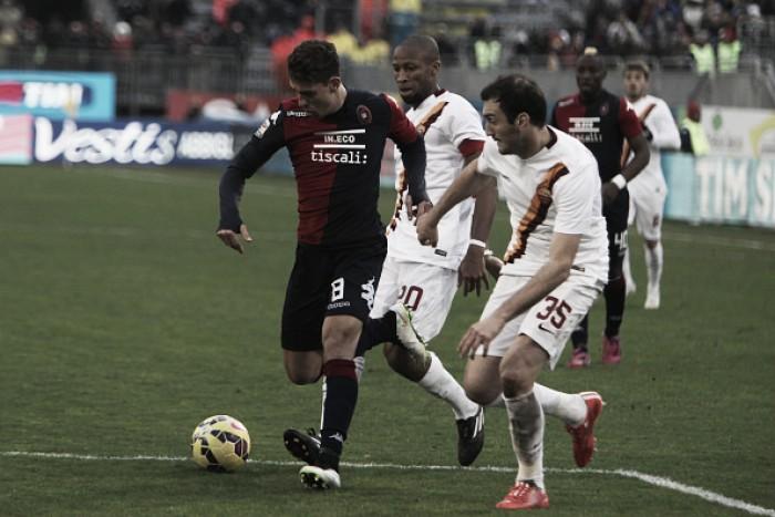 Buscando a primeira vitória, Cagliari recebe Roma pela Serie A