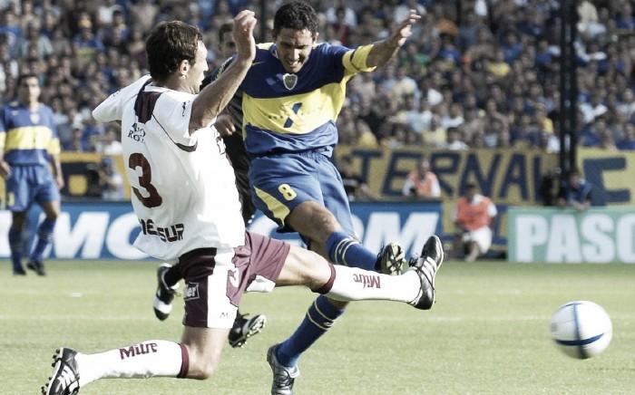 Último debut contra Lanús