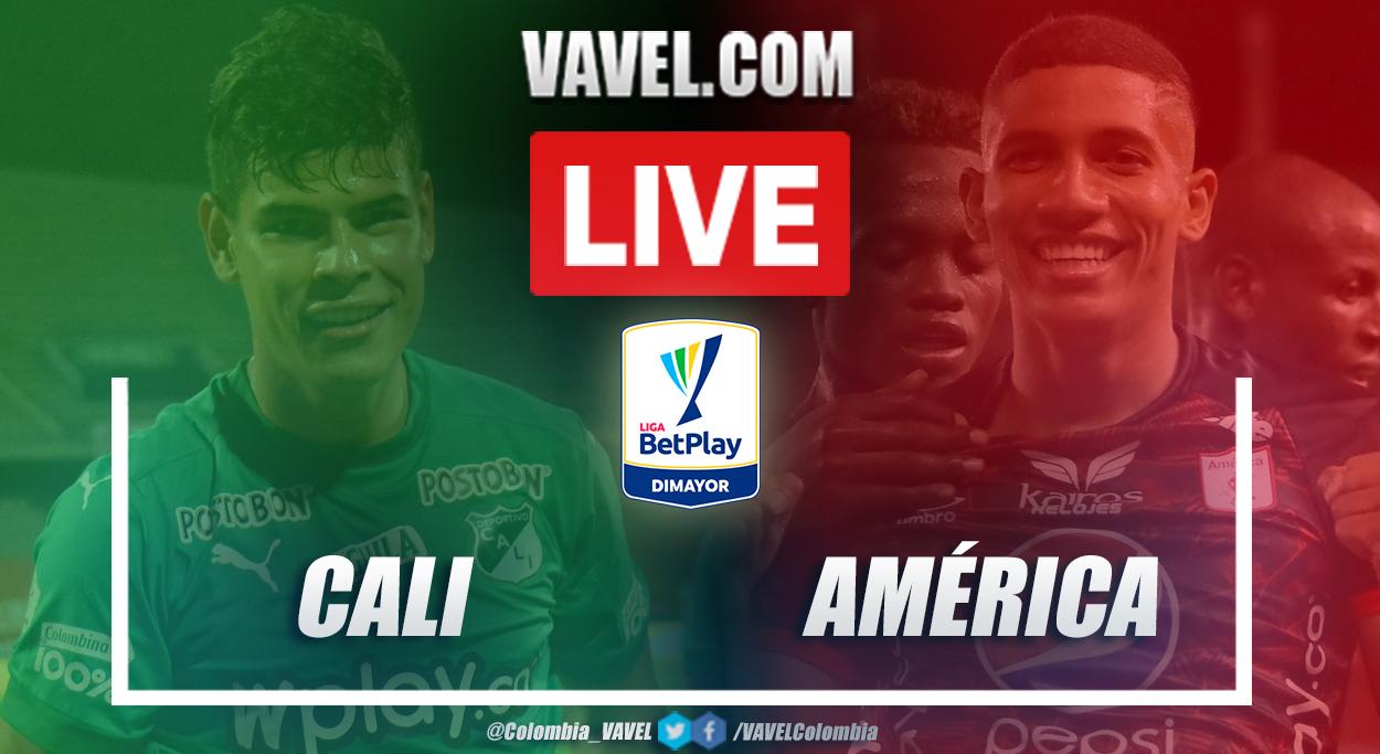 Resumen Deportivo Cali vs América de Cali (0-2) en la fecha 12 de la Liga BetPlay 2021-I