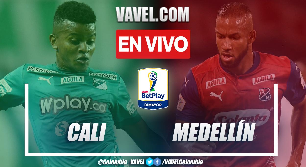 Resumen y goles: Cali 2-2 Medellín en octavos de final (ida) por Copa BetPlay 2021