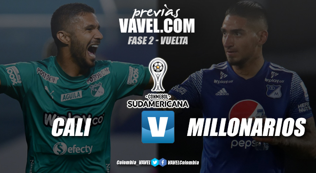 Previa Deportivo Cali vs Millonarios: partido de vuelta, Copa Sudamericana