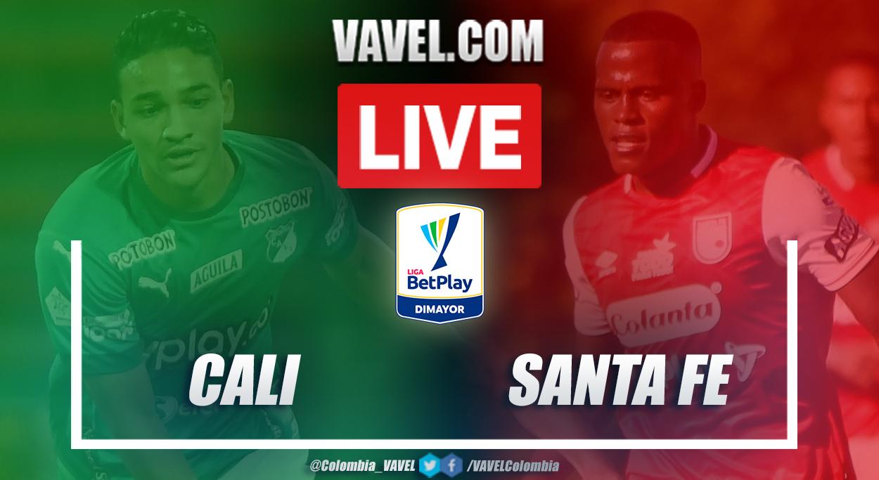 Resumen Cali vs Santa Fe (1-1) en la fecha 10 por Liga BetPlay 2021-I