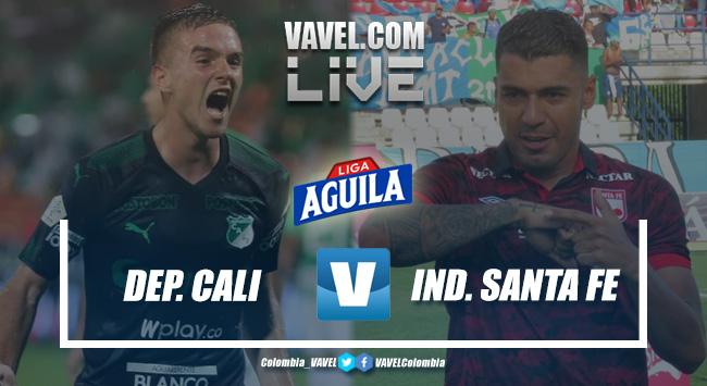 Resumen. Deportivo Cali vs Independiente Santa Fe por la fecha 17 de la Liga Aguila 2019-II