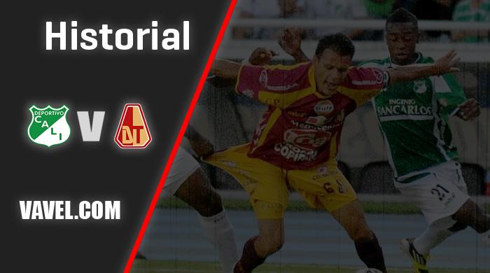Historial Deportivo Cali vs Deportes Tolima: números favorables para los 'azucareros'