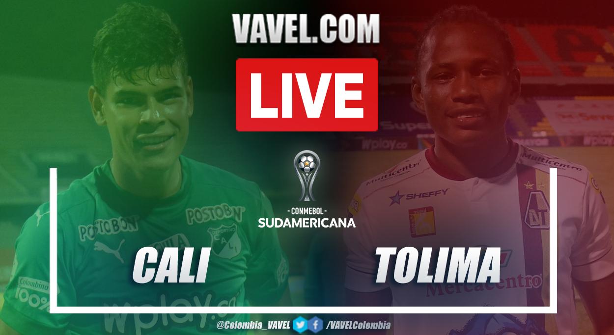 Resumen Deportivo Cali vs Deportes Tolima (0-0) en la vuelta de las clasificatorias de la Copa Sudamericana 2021