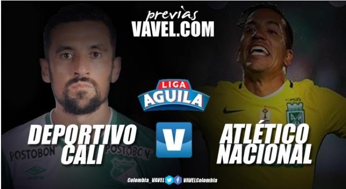 Previa Deportivo Cali - Atlético Nacional: Duelo de 'verdes' en Palmaseca
