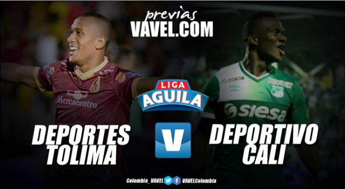 Deportes Tolima vs Deportivo Cali: La visita busca mantenerse en los primeros lugares