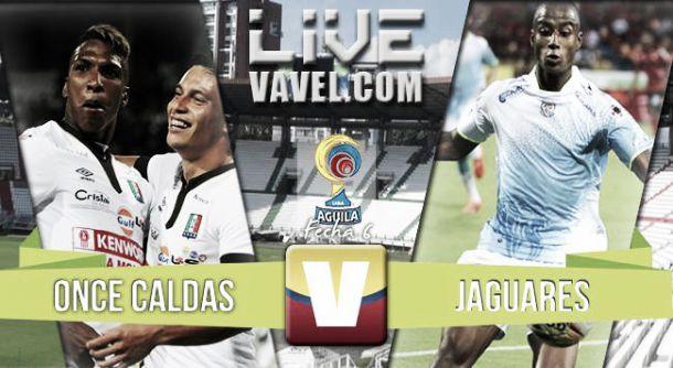 Resultado Once Caldas - Jaguares en la Liga Águila 2015-II (1-1)