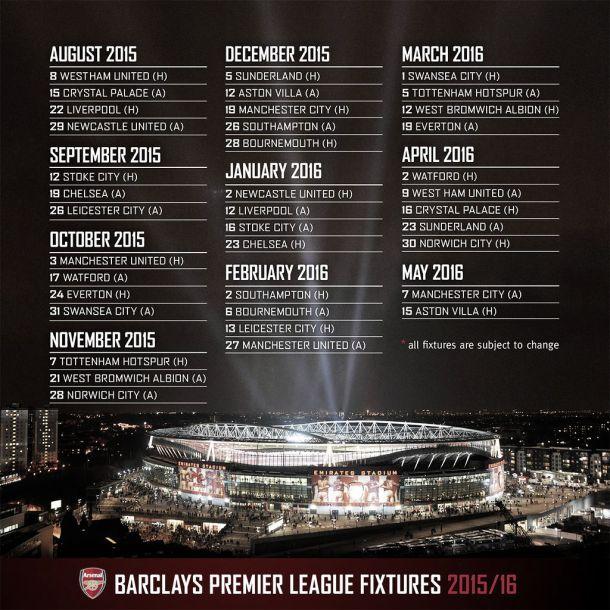 Calendario Arsenal.Calendario Benevolo Para El Arsenal Vavel Com
