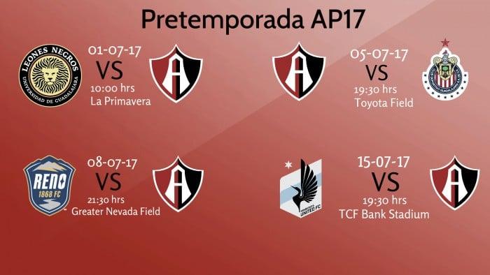 Atlas listo para su pretemporada Apertura 2017