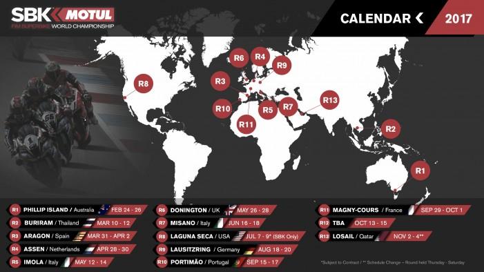 Portugal, principal novedad del calendario provisional de SBK para 2017