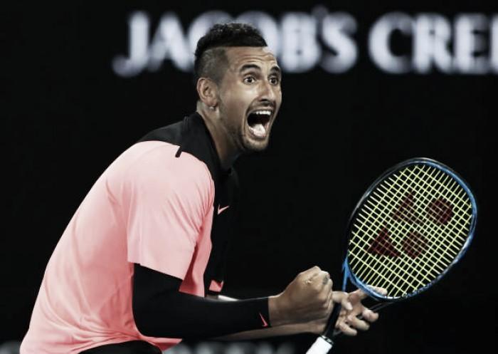 Australian Open: Nick Kyrgios beats Jo-Wilfried Tsonga in entertaining battle
