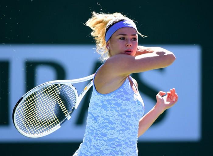 WTA Biel - La Giorgi prevale sulla Suarez Navarro, oggi quarti con la Sasnovich