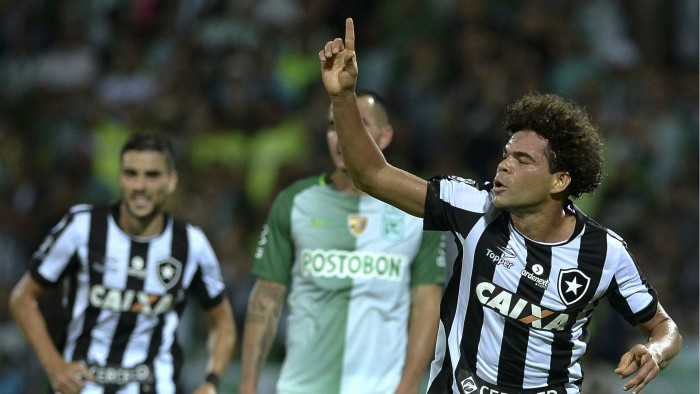 Resultado Botafogo 1x0 Atlético Nacional na Copa Libertadores 2017