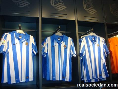 Los dorsales de la Real Sociedad para la temporada 2012/13