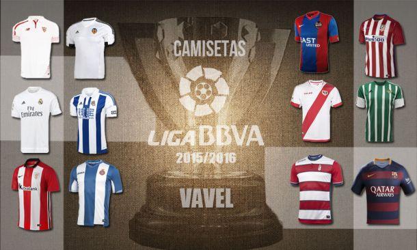 Equipaciones y camisetas de los equipos de la Liga BBVA 2015 2016 ... 8438fab72836b