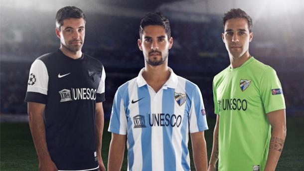 El Málaga presenta su nueva equipación