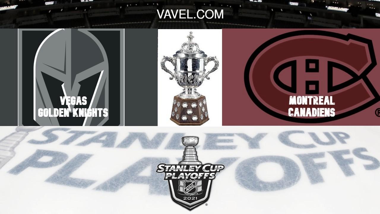Previa Vegas Golden Knights - Montreal Canadiens: Vegas busca su segunda final en cuatro años.