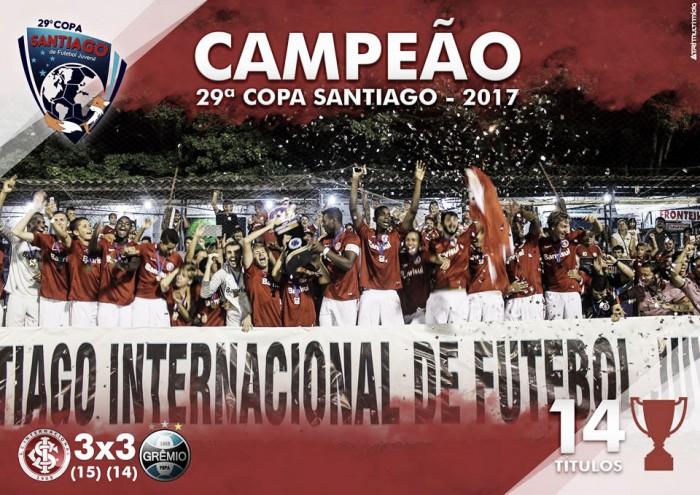 Internacional vence Grêmio nos pênaltis e é campeão da Copa Santiago Juvenil