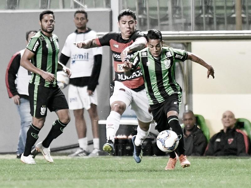 Em duelo de poucas chances, América-MG empata com Oeste pela Série B