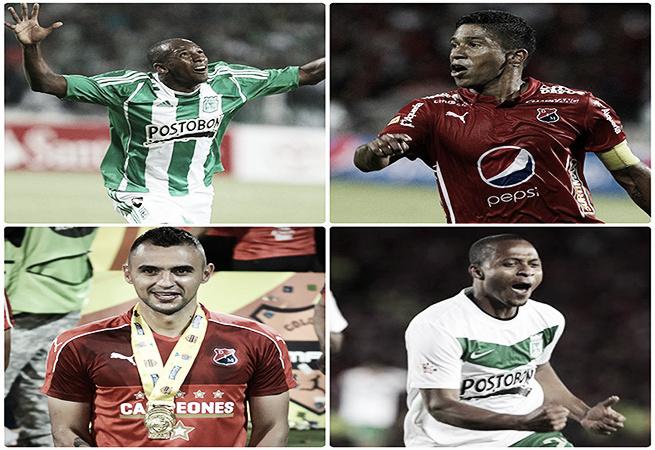 Jugadores campeones con Independiente Medellín y Atlético Nacional