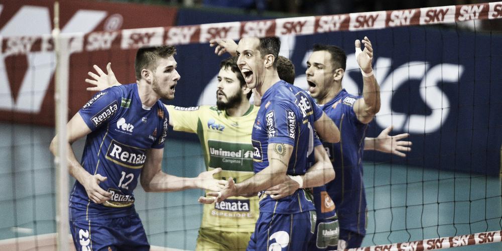 Campinas derrota Sesc-RJ no tie-break e sobe para a sexta posição da Superliga
