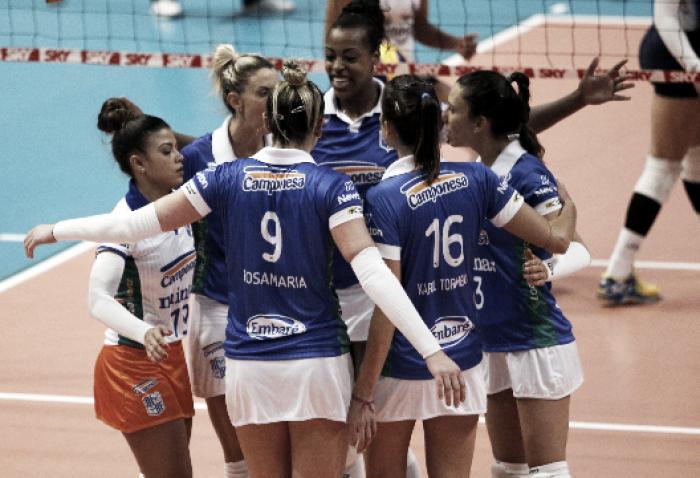 Resultado Minas x Pinheiros pela Superliga Feminina (2-3)