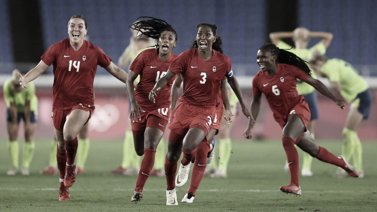 Canadá soma quarto empate em Tokyo 2020, mas vence Suécia nos pênaltis e é ouro no futebol feminino