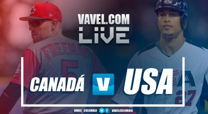 Juego Canadá vs Estados Unidos por el Clásico Mundial de Béisbol (0-8)